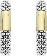 Lagos 18k Gold Bar Caviar Hoop Earrings