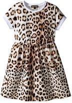 Roberto Cavalli Short Sleeve All Over Print Jersey Dress (Toddler/Little Kids)