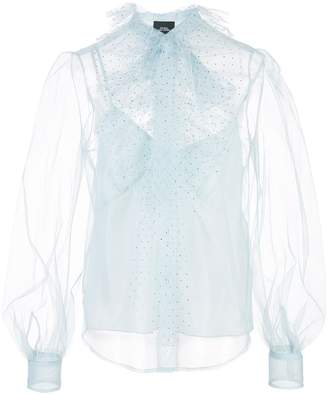 Marc Jacobs sheer pussybow blouse