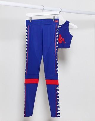 Kappa banda leggings in blue
