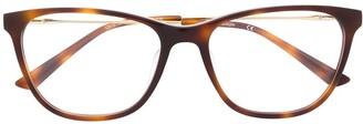 Calvin Klein Rectangular-Frame Tortoiseshell Glasses