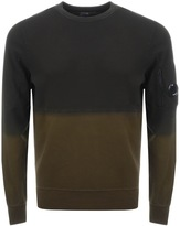 C.P. Company Dip Dye Goggle Sweatshirt Green