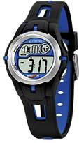 Calypso Children's Digital Watch with LCD Dial Digital Display and Black Plastic Strap K5506/3