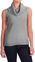 Cable & Gauge Cowl Neck Sweater - Rayon, Sleeveless (For Women)