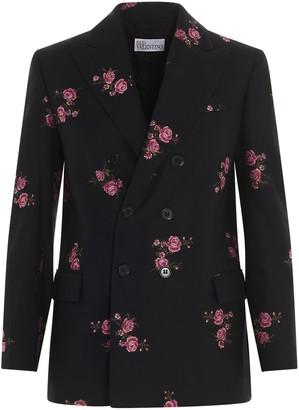 RED Valentino Floral Jacquard Blazer