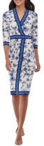 ECI Women's Floral Faux Wrap Dress