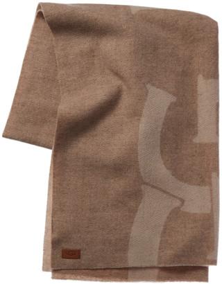 UGG Woven Logo Wool Scarf