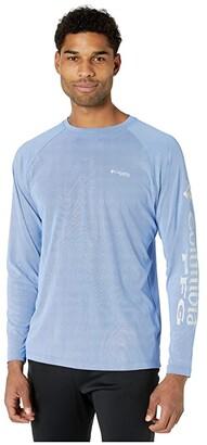 Columbia PFG Terminal Deflectortm Long Sleeve Shirt (Vivid Blue/Cool Grey) Men's Long Sleeve Pullover