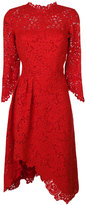 Ermanno Scervino asymmetric bell sleeve lace dress