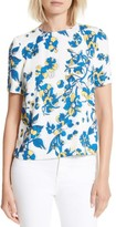 Ted Baker Women's Sophee Floral Print Pleated Back Top