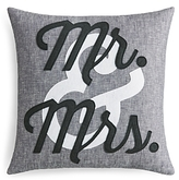 Alexandra Ferguson Mr. & Mrs. Linen Decorative Pillow, 16 x 16