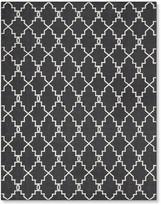 Moroccan Gate Indoor/Outdoor Rug, Black