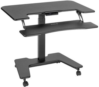 Vivo Electric Mobile Two Platform Height Adjustable Standing Desk