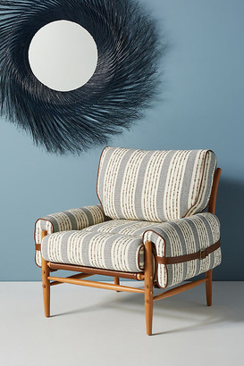 Anthropologie Striped Rhys Chair By in Beige Size ALL