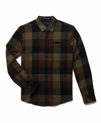 Sean John Men's Long Sleeve Woodland Flannel Woven Shirt