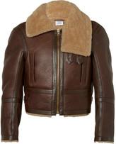Vetements Cropped Shearling Aviator Jacket