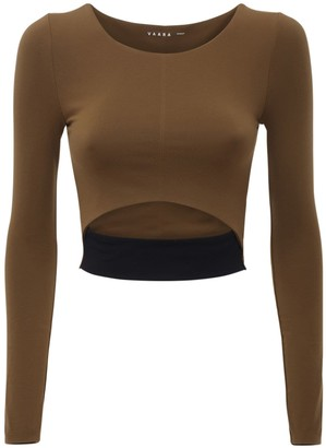 Vaara Scarlet Seamless Eco L/S Crop Top