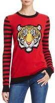 Aqua Cashmere Tiger Intarsia Sweater- 100% Exclusive