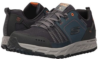 Skechers Escape Plan (Navy/Orange) Men's Lace up casual Shoes