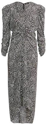 Isabel Marant Albi Printed Silk Midi Dress