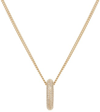 Jil Sander Crystal hoop necklace