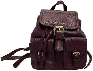 Michael Kors Purple Leather Backpacks
