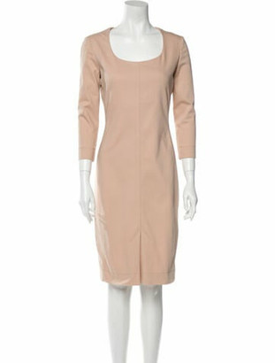 The Row Scoop Neck Knee-Length Dress Pink