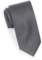 Black Brown 1826 Microgrid Silk Tie