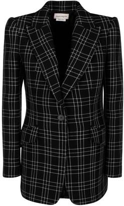 Alexander McQueen Checked Blazer