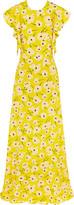 Rochas Ruffled Floral-Print Silk Maxi Dress