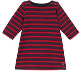 Petit Bateau Baby girls dress in striped heavy jersey