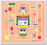Stupell Industries The Kids Room by Stupell Robot on Background Square Wall Plaque