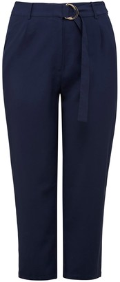 Forever New Alana Curve Belted Straight Leg Pants - Navy - 16