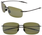 Maui Jim Women's Breakwall 63Mm Polarizedplus2 Rimless Sunglasses - Root Beer