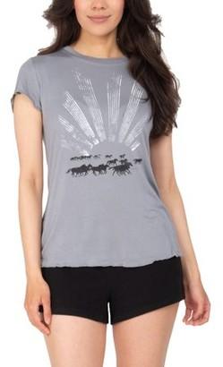 Retrospective Co. Women's Babydoll T-Shirt and Shorts 2-Piece Pajama Set
