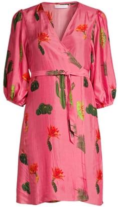 Carolina K. Cactus Silk Wrap Dress