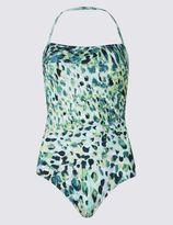 Marks and Spencer SwimsculptTM Halter Neck Speckle Print Swimsuit