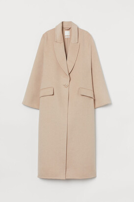H&M Oversized Wool-blend Coat - Beige
