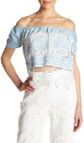 Thumbnail for your product : Lucy Paris Off-the-Shoulder Knit Blouse