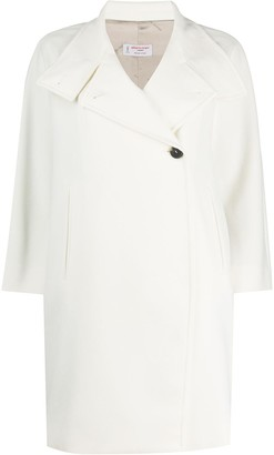 Alberto Biani Buttoned High-Neck Coat