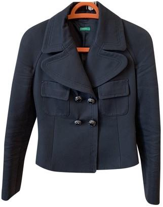 Benetton Black Cotton Jackets