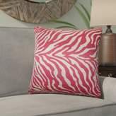 Woroud Zebra Print Throw Pillow Bloomsbury Market Color: Red