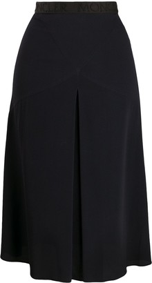 Moncler inverted-pleat A-line skirt