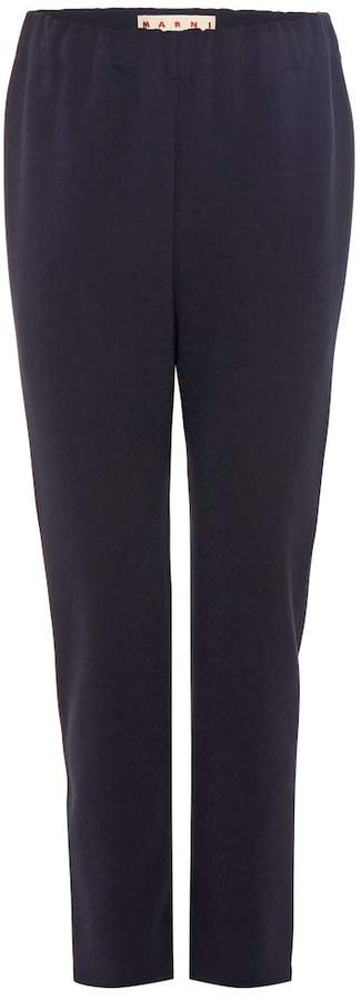 Marni Crepe cropped trousers