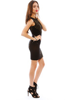 Torn By Ronny Kobo Candice Animal Colorblock Dress