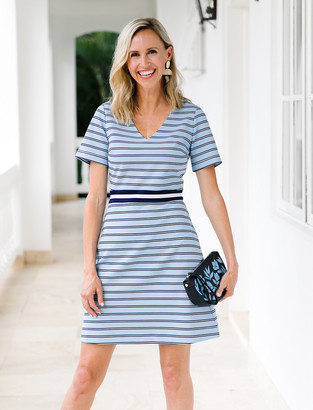 Draper James Stripe Persley Ponte Dress
