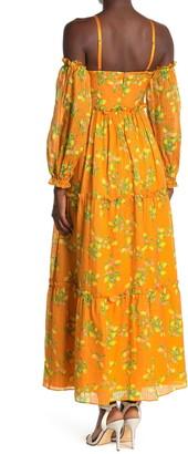 CAMI NYC Cora Cold Shoudler Floral Print Dress