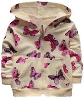 Charberry Infant Toddler Baby Girls Butterfly Print Hoodie Tops Clothes Coat