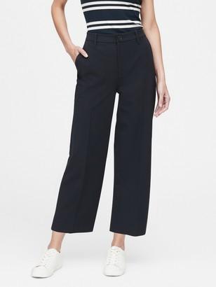 Banana Republic Slim Wide-Leg Cropped Pant
