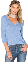 ATM Anthony Thomas Melillo V Neck Sweater in Blue